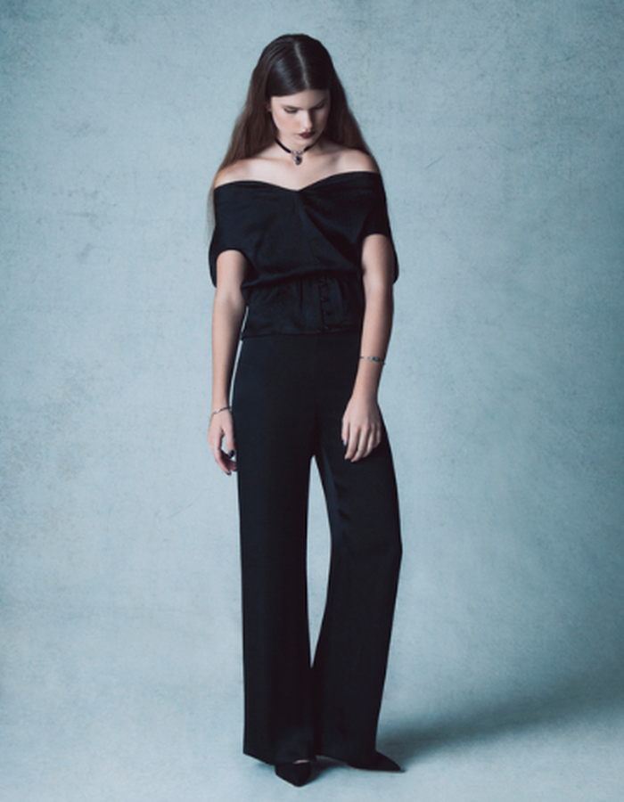 Emma Silk Crop Top & Olivia Trouser