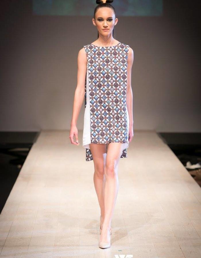 Augmented Print Shift Dress