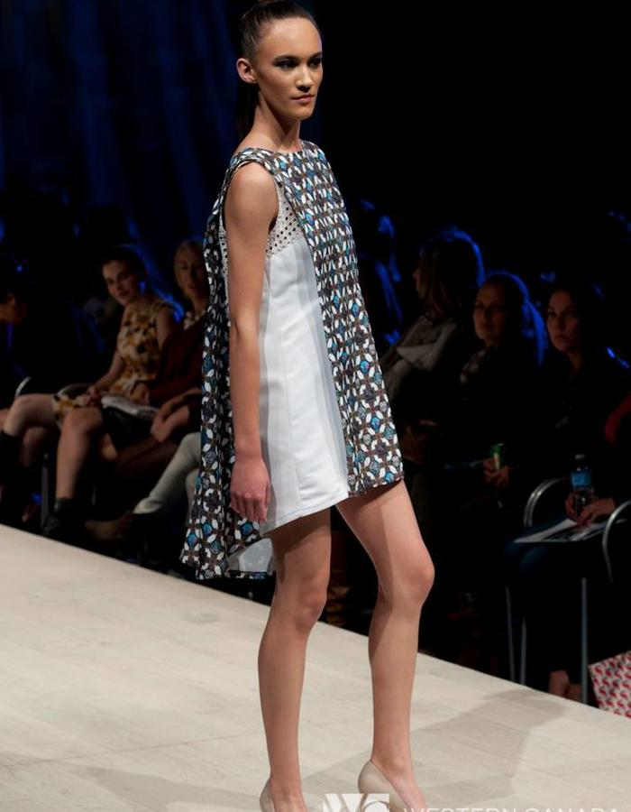 Augmented Print Shift Dress