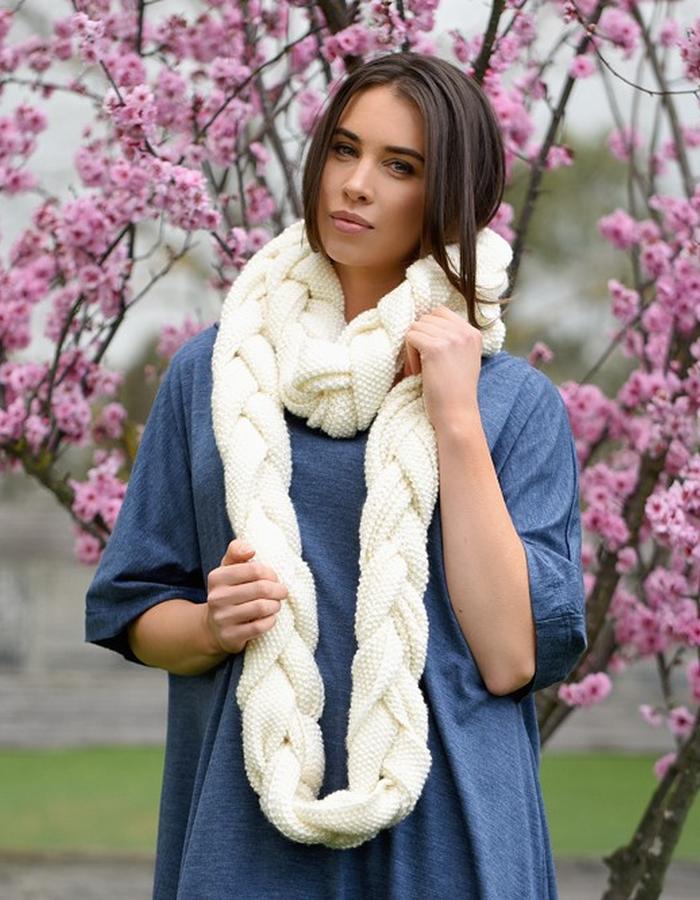 braided wool scarf