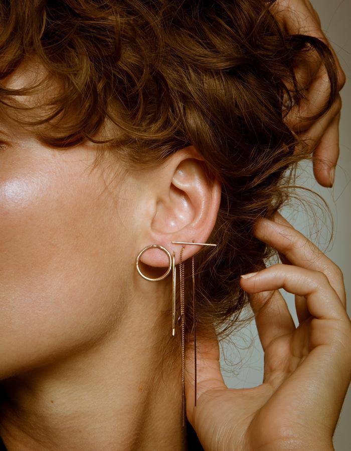 GOLD O STUD/EAR PIN/O THREADER/T THREADER