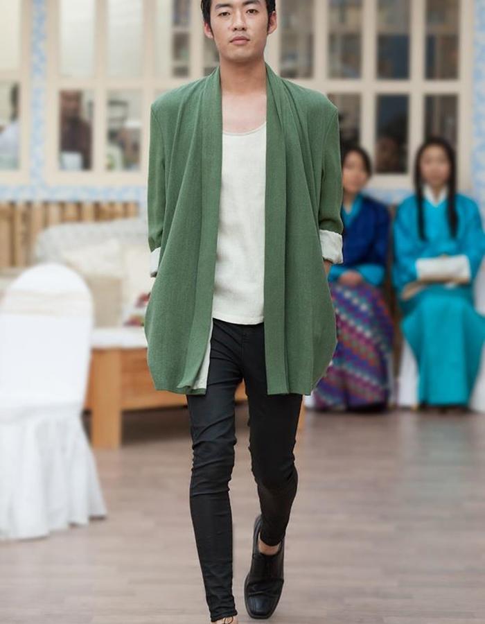 Hand woven raw silk jacket