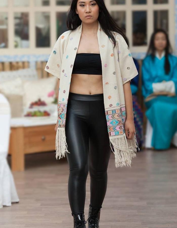 Hand woven raw silk kimono jacket