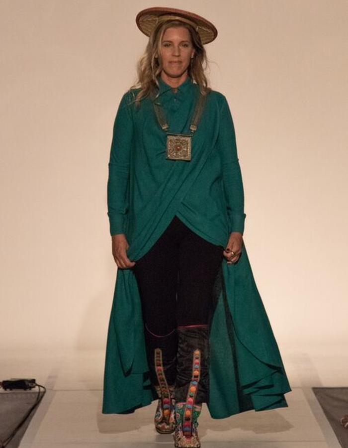 hand woven raw silk wrap shirt dress