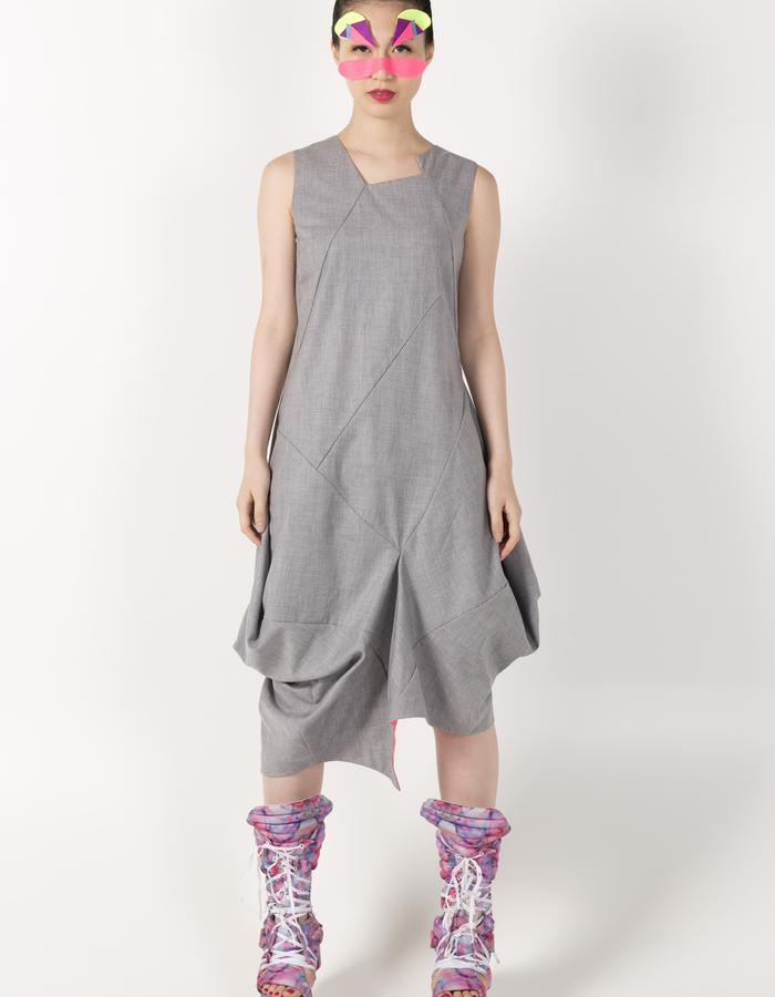 3D ASYMMETRIC VEST DRESS HKD 2680