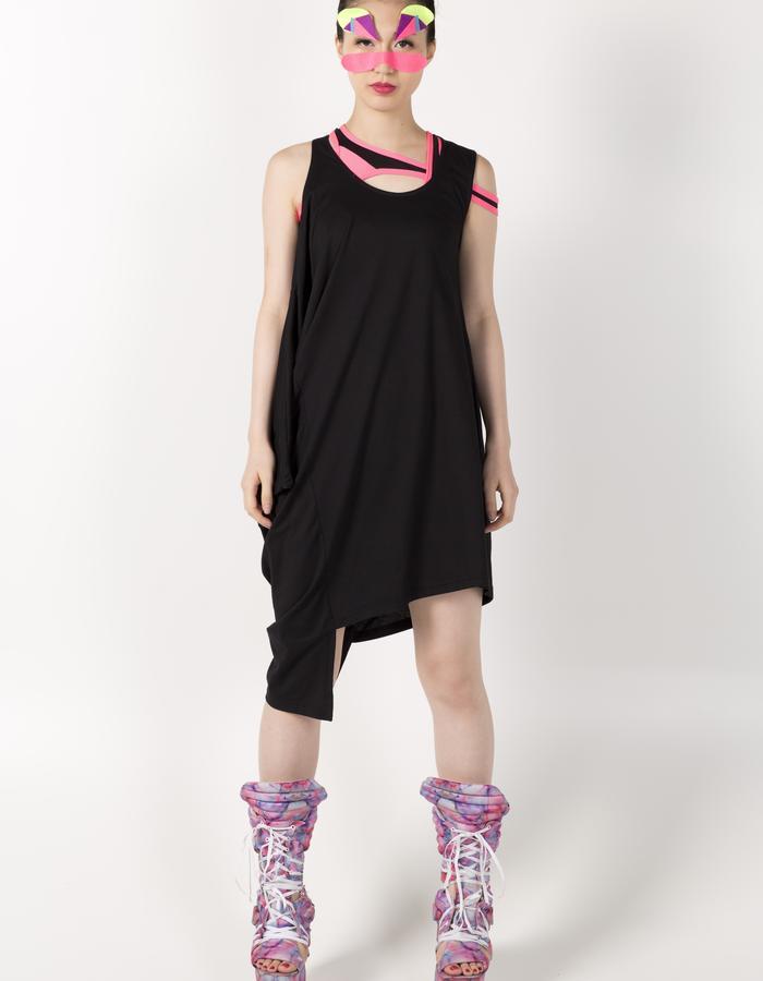 STRIPE SPORTS BRA HKD 680 BLACK VEST DRESS HKD 780