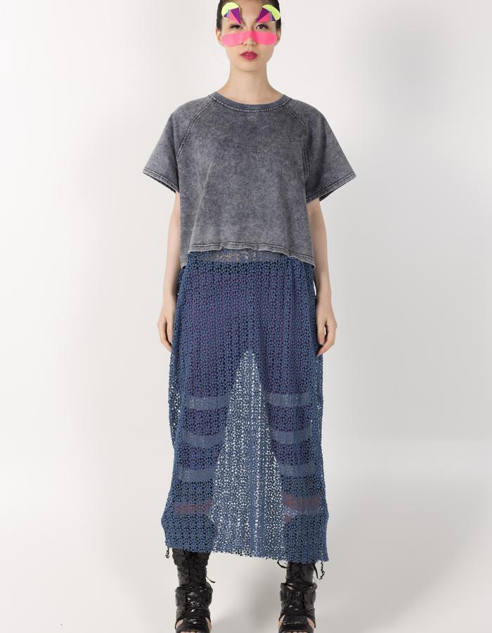 LONG T-SHIRT DRESS HKD1280 STRIPE LEGGINGS HKD 480