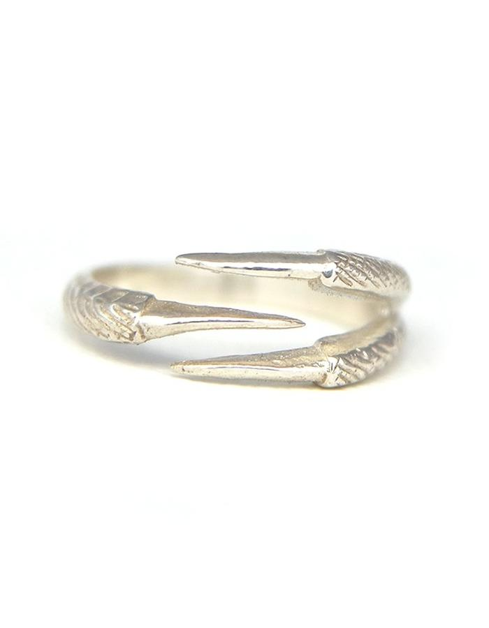 Talon Three Claw Ring in Silver