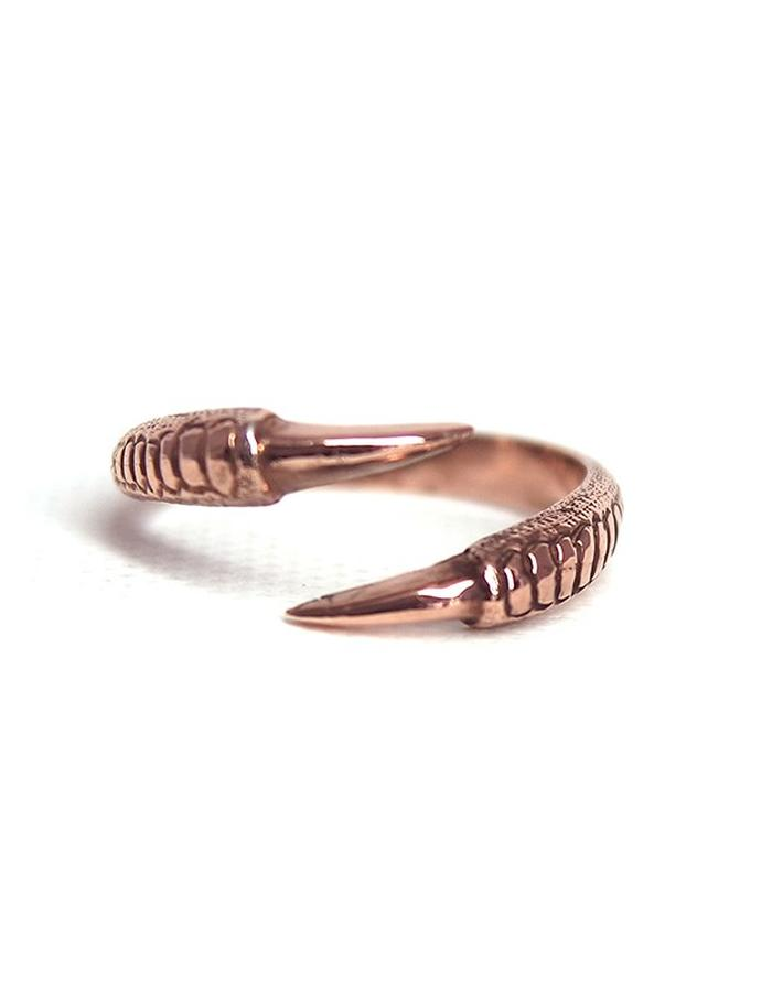 Talon Two Claw Ring in Rose Gold