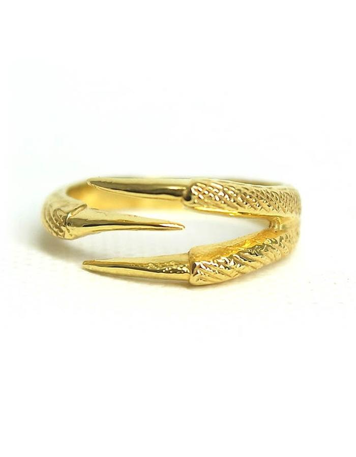 Talon Three Claw Ring in Yellow Gold