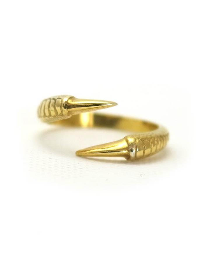 Talon Two Claw Ring in Yellow Gold