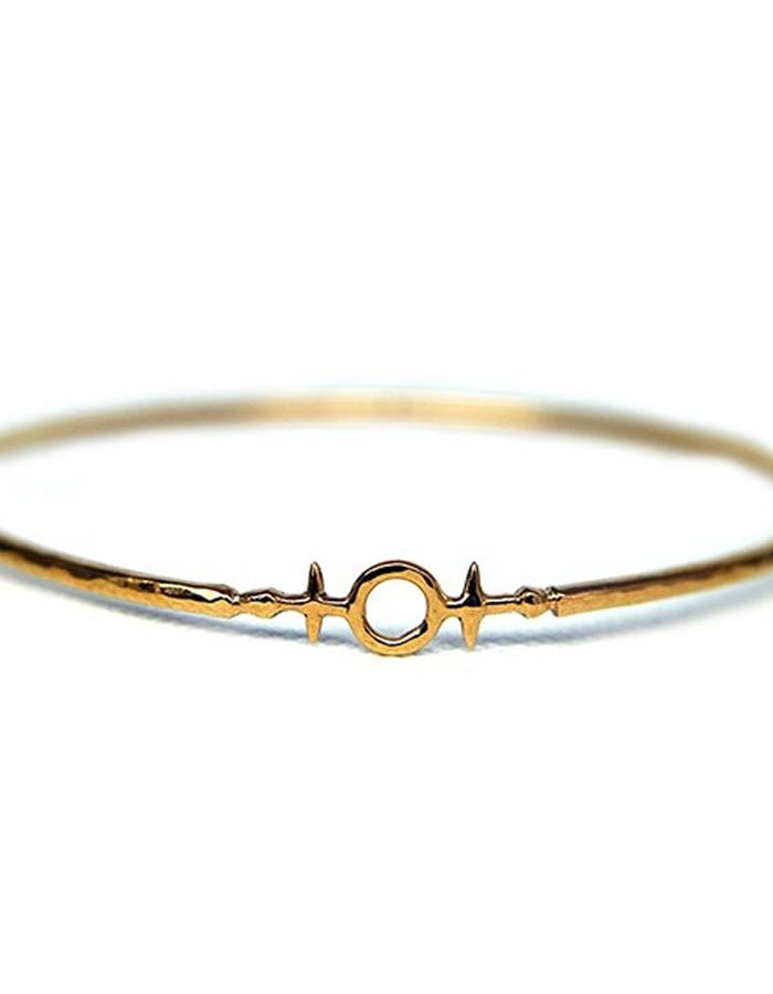 Millar Jewellery Aegishjalmur Bangle yellow gold