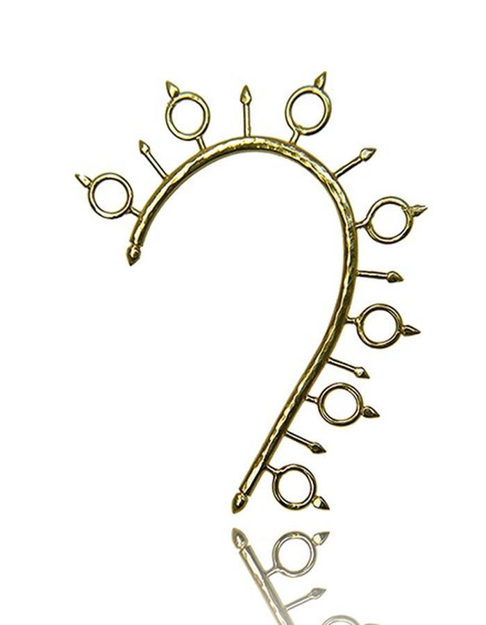 Millar Jewellery Aegishjalmur earcuff yellow gold