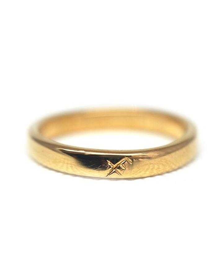 Millar Jewellery Aegishjalmur Futhark Ring yellow gold
