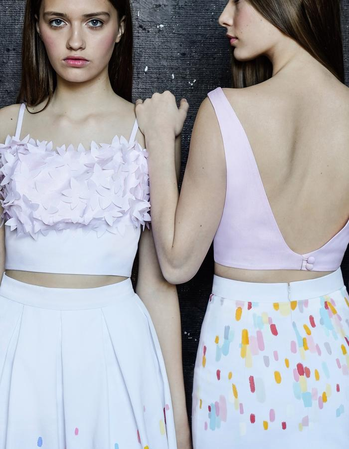 CANDY FLOSS BLOSSOM and CANDY FLOSS Crop Tops