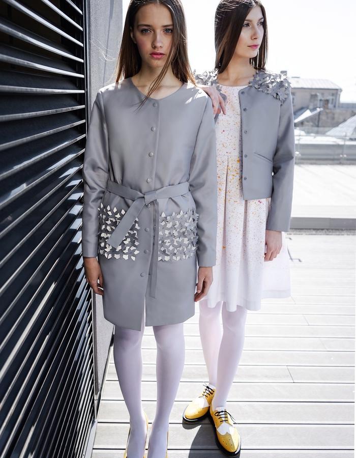 CONCRETE BLOSSOM Rain Coat and Jacket