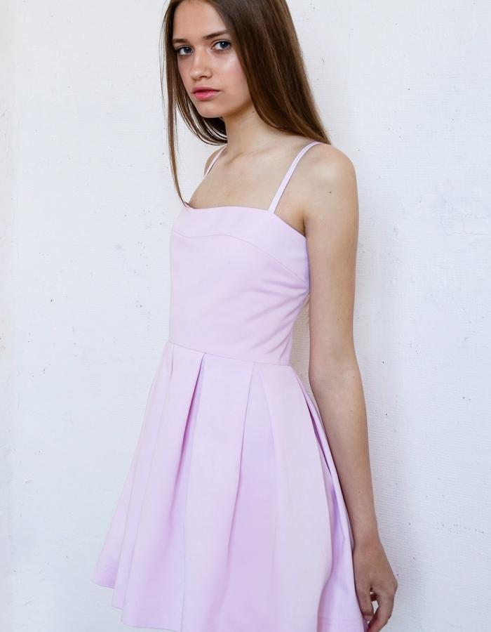 CANDY FLOSS Pleated Mini Dress
