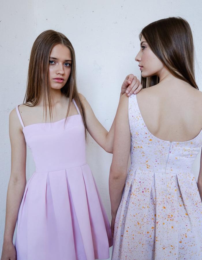 CANDY FLOSS and SUNRISE SPLASH Pleated Dresses