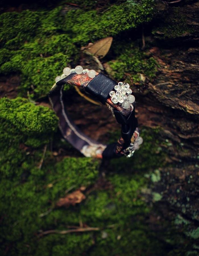 ARIEL.C buckle obi leatehr bracelet
