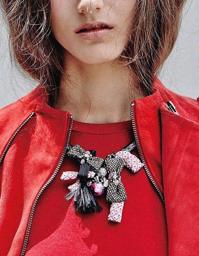 ARIEL.C Kumihimo Tassel Necklace