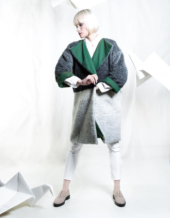 Zero-waste Coat, Reversible, Uni-sex