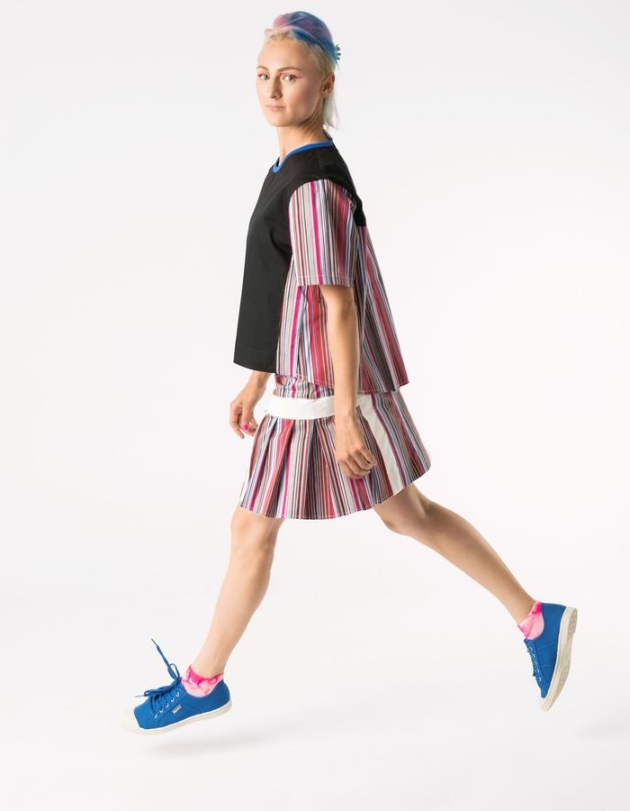 COLLECTION 2016/PINK STRIPES  COTTON SHIRT AND SKIRT/TANGENS