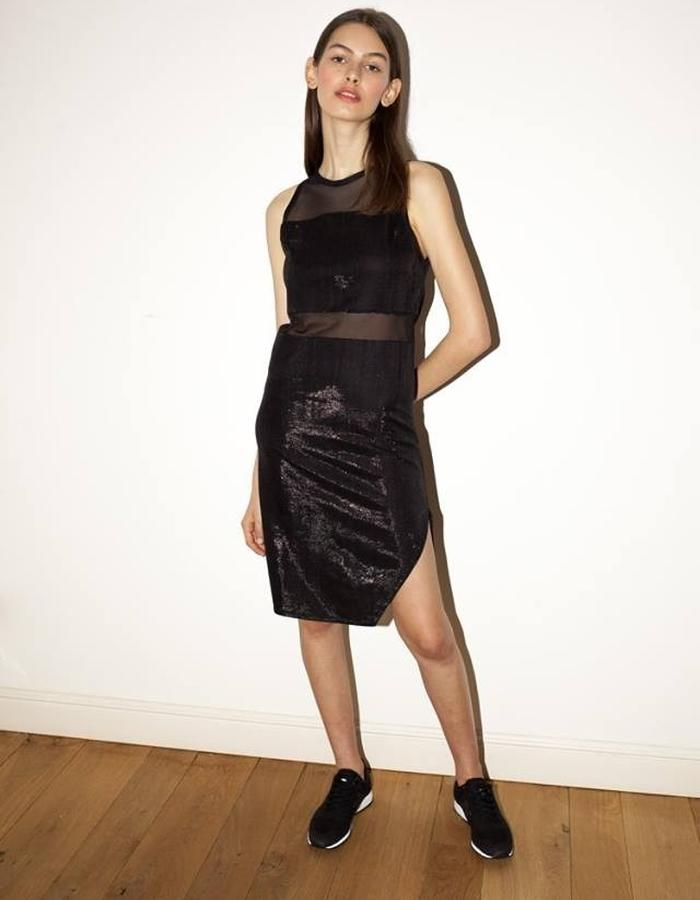 Glossy knee lenght dress by keren allouche