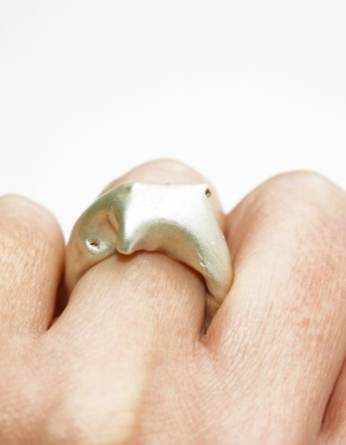 veiled precious ring