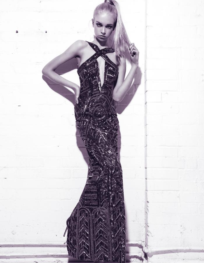 Aloura London - Estelle Dress Graphite