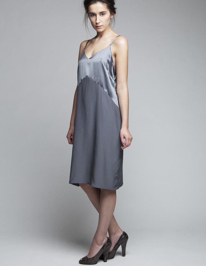 Zoe Carol Womenswear silk grey slip dress