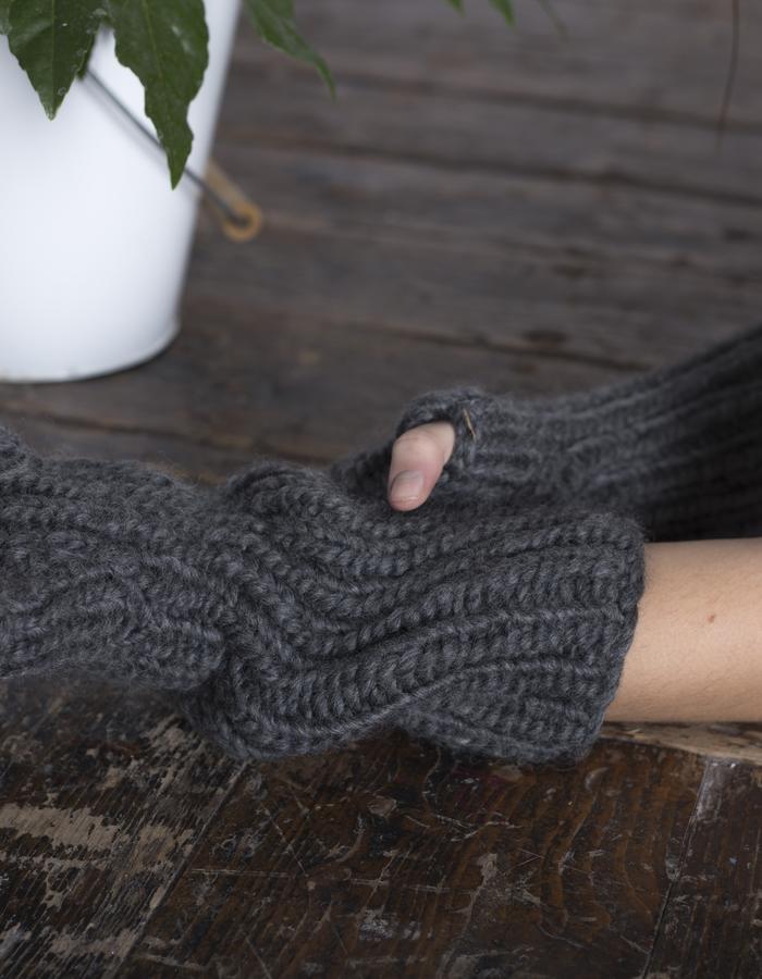 Zoe Carol Womenswear wool handknit armwarmers