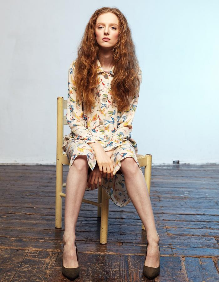 Zoe Carol Womenswear print button down shirt dress