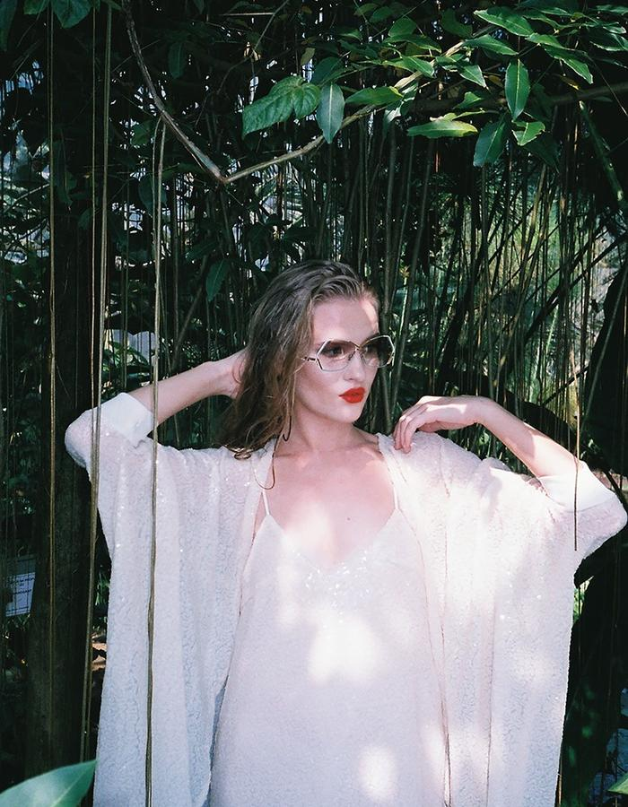 H.S Tropicanamania Ivory Sequin Kimono