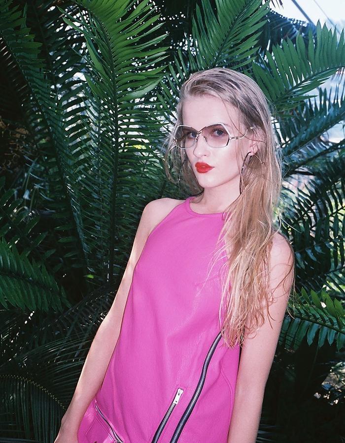 H.S Tropicanamania Hot Pink Biker Dress
