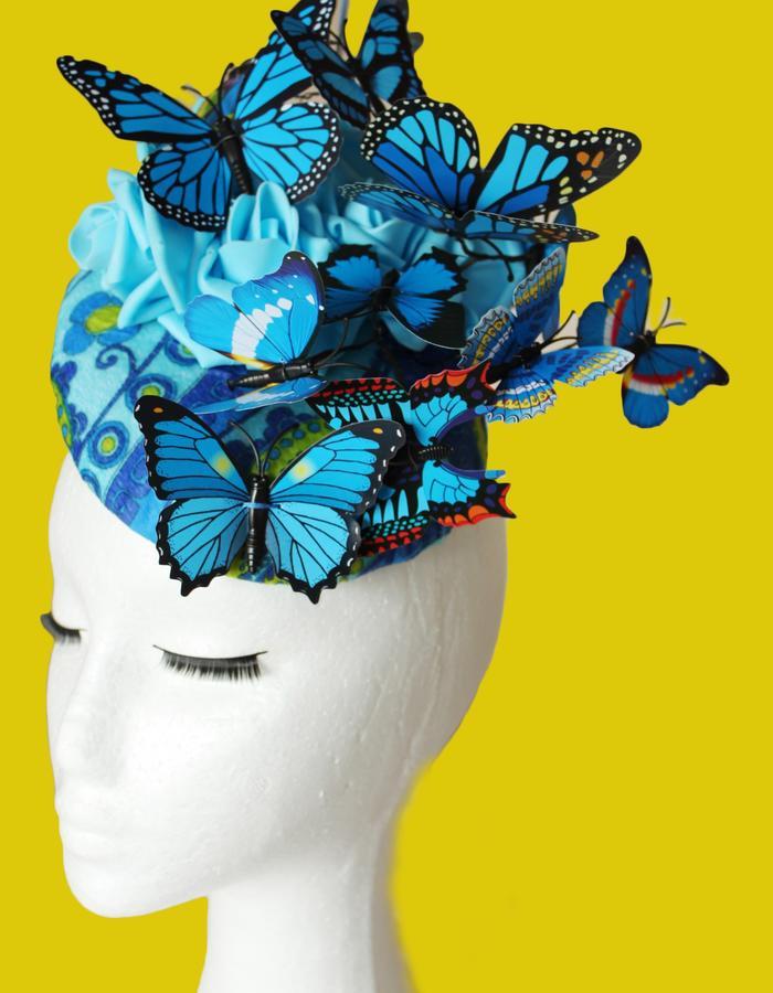Blue Butterfly Hat