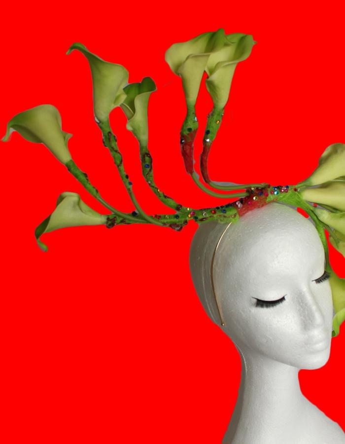 Green Lily Headpiece