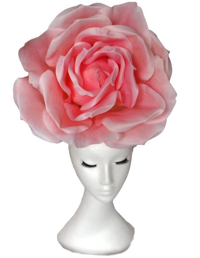 Huge Pink Rose Hat