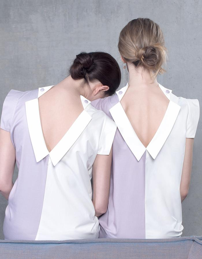 NEDA and ANNA in LILAC DRESSES