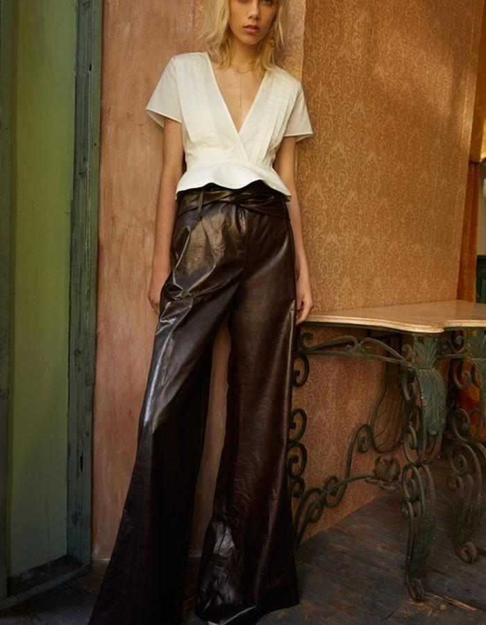 Adley Top + Sia Leather Trouser
