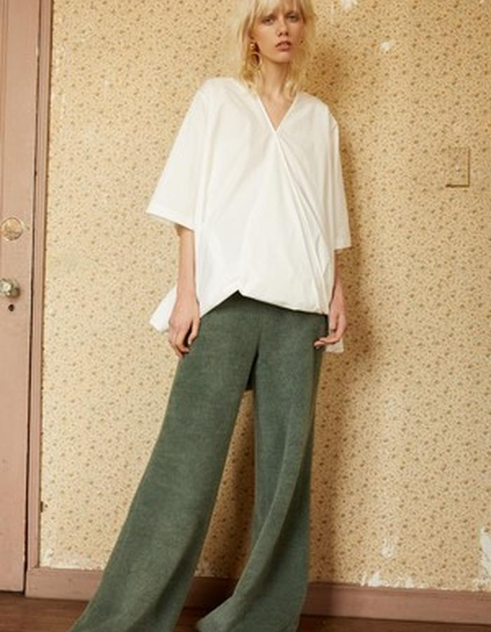 Colette White Cotton Top + Sia Mohair Trouser