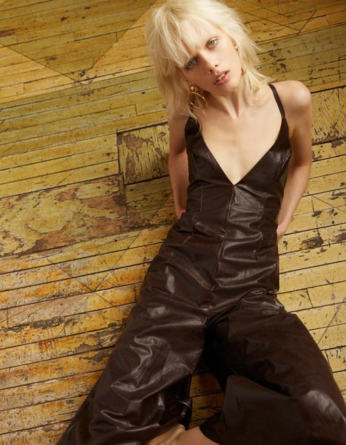 Ophelia Leather Jumpsuit
