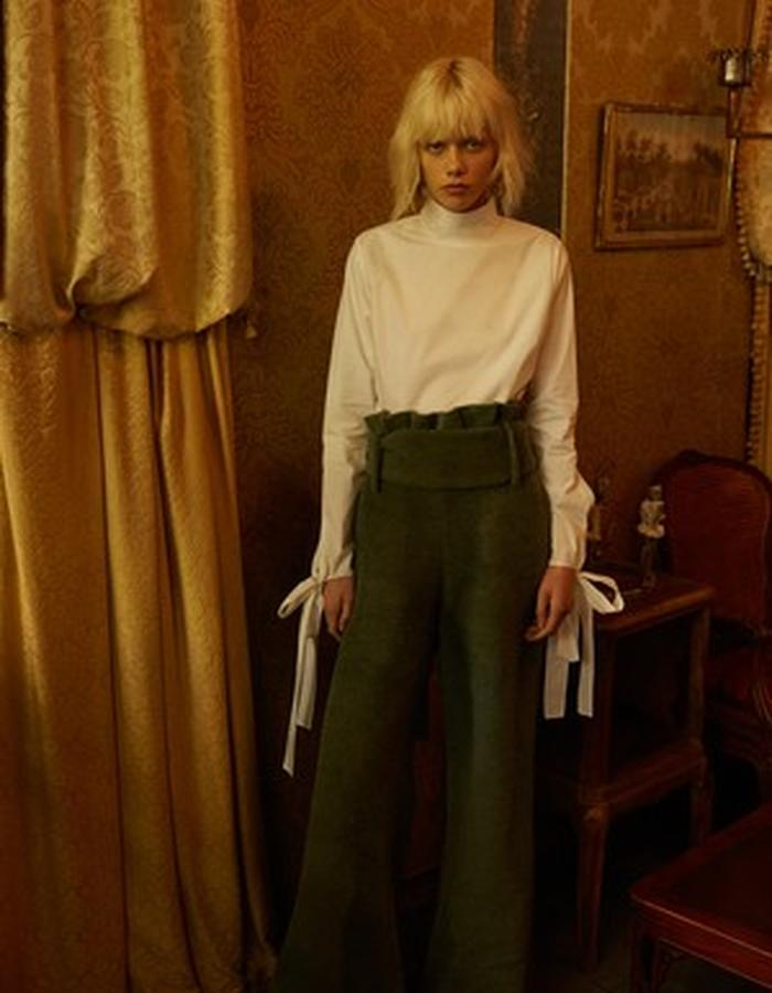 Rayne Blouse + Sia Mohair Trouser