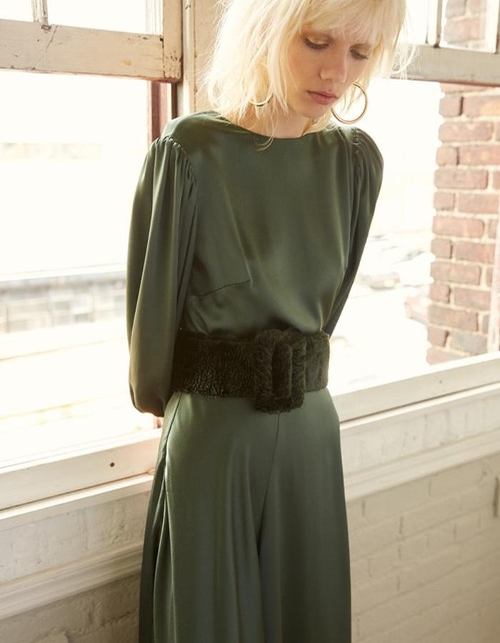 Rae Silk Dress + Willa Belt