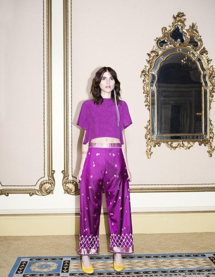 Angela Crop Top + Bombay Silk Pant