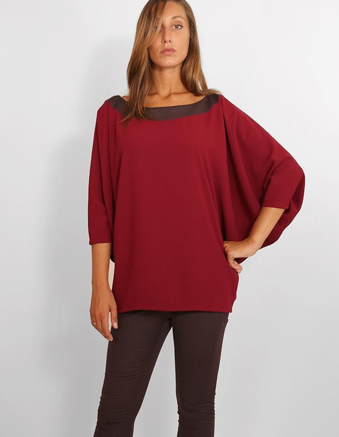Cadi wool butterfly tunic.
