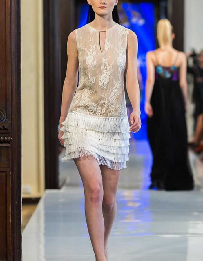 lace ecru dress