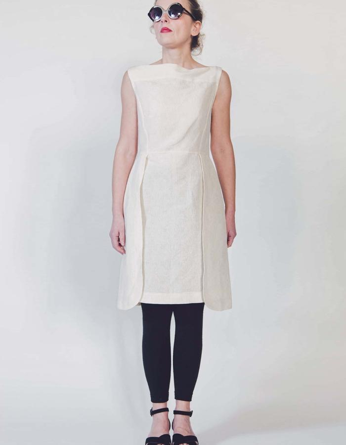 Linen and cotton dress.