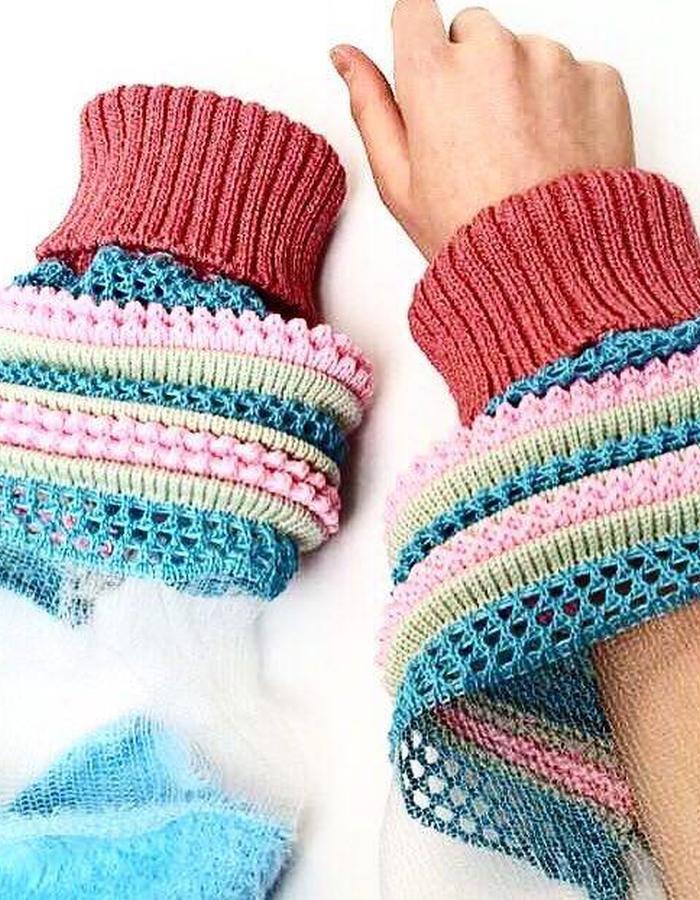Knit sleeve
