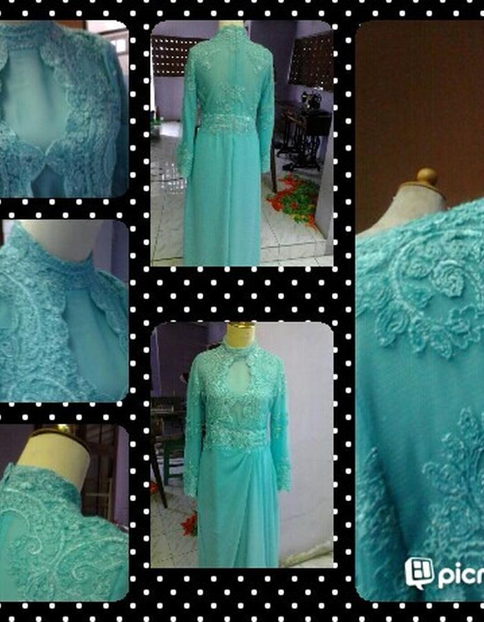 Traditional modern drapery gown