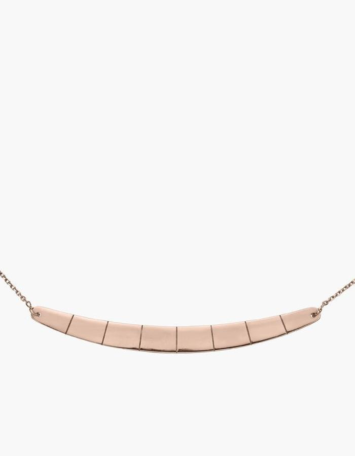 Juba Reversible Bar Necklace - rose gold